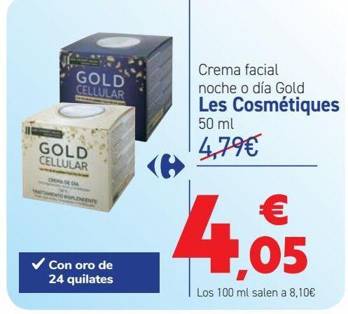 Oferta de Crema facial nohce o día Gold Les Cosmétiques por 4,05€