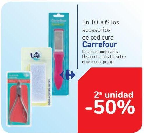 Oferta de En TODOS los accesorios de pedicura Carrefour  por