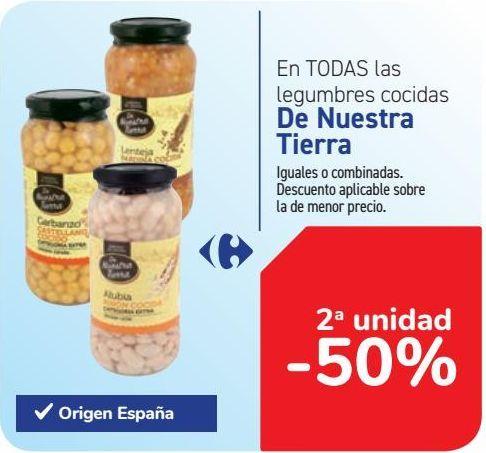 Oferta de En TODAS las legumbres cocidas De Nuestra Tierra  por