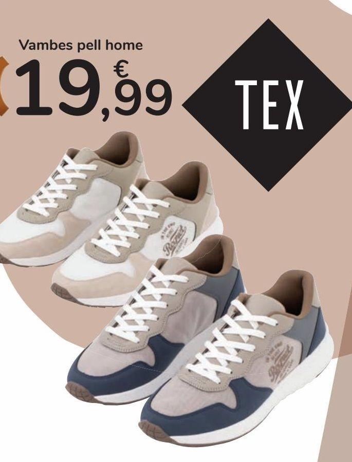 Oferta de Zapato deportivo piel hombre por 19,99€
