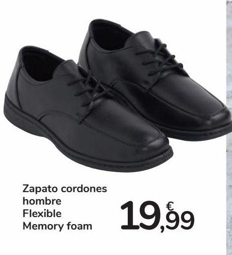 Oferta de Zapato cordones hombre Flexible Memory foam por 19,99€