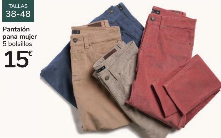 Oferta de Pantalón pana mujer 5 bolsillos por 15€