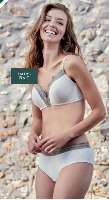 Oferta de Sujetador algodón de colorantes naturales Mujer TEX por 12€