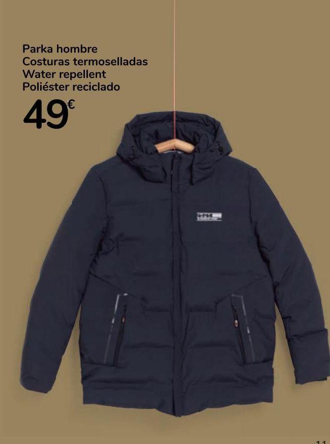 Oferta de Parka hombre Costuras termoselladas Water repellent poliéster reciclado  por 49€