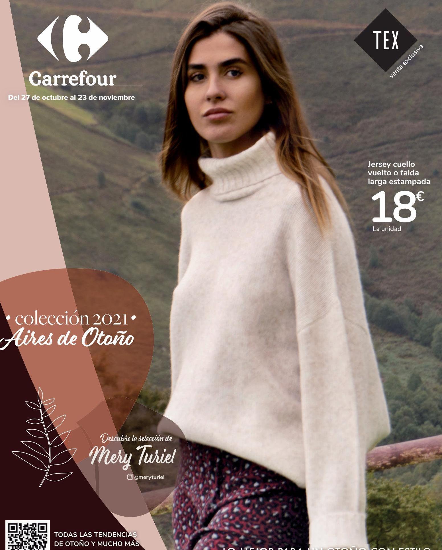 Oferta de Jersey cuello vuelto o falda larga estampada por 18€
