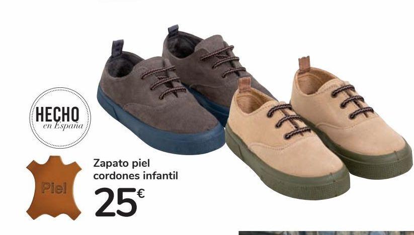 Oferta de Zapato piel cordones infantil por 25€