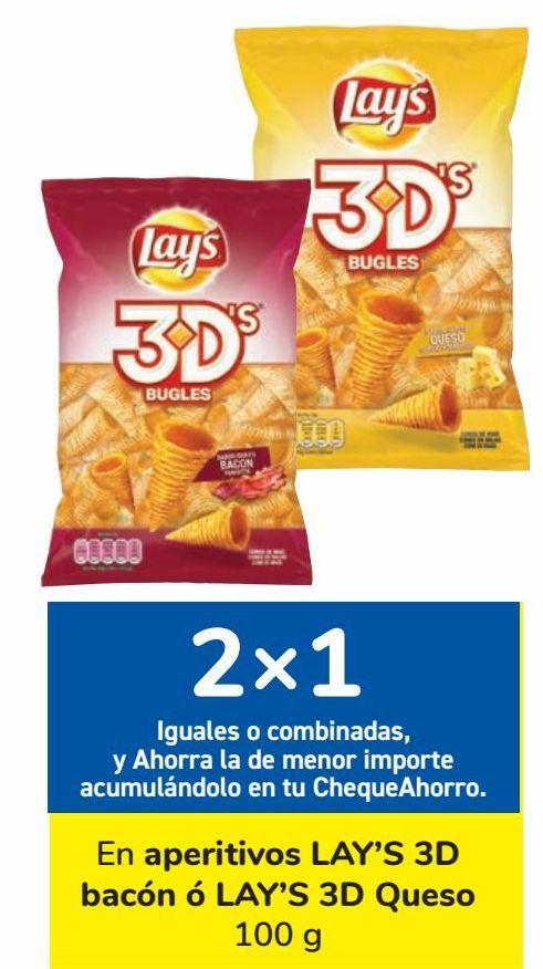 Oferta de En aperitivos LAY'S 3D bacón ó LAY'S 3D Queso por