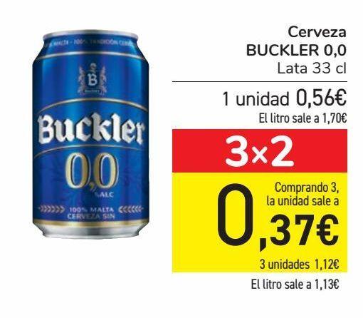 Oferta de Cerveza BUCKLER 0,0  por 0,56€