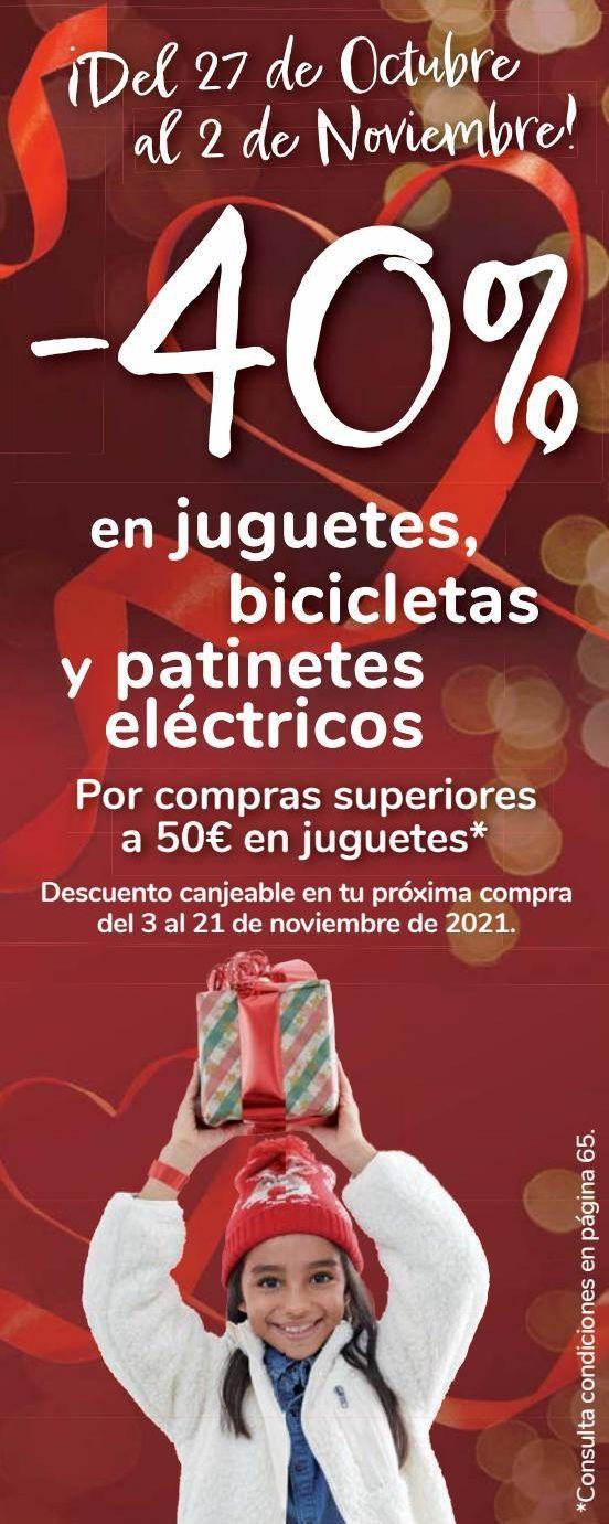 Oferta de En juguetes, bicicleta y patinetes eléctricos  por