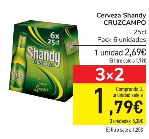 Oferta de Cerveza Shandy CRUZCAMPO  por 2,69€