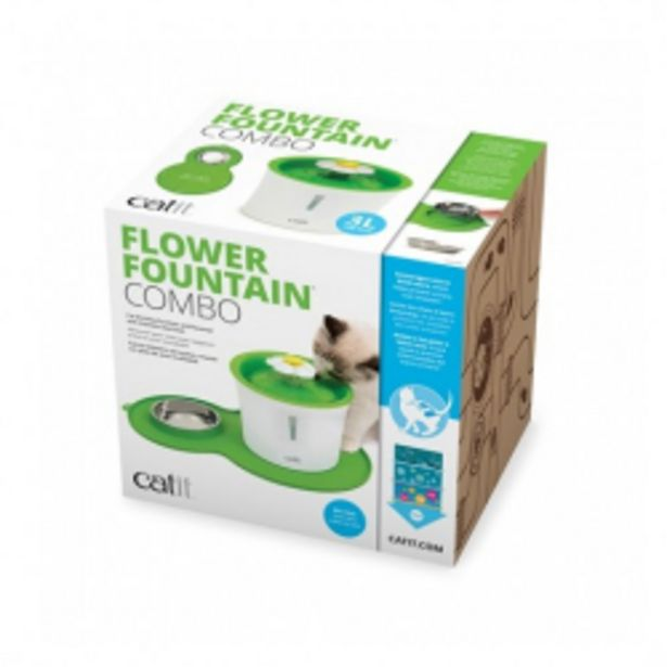 Oferta de Catit Flower Fountain + Alfombrilla y Comedero para gatos por 72,21€