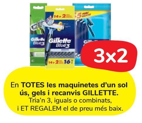 Oferta de En TODAS las maquinillas de un solo uso, geles y recambios GILLETTE. por