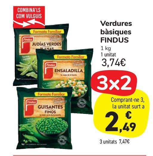 Oferta de Verduras básicas FINDUS  por 3,74€