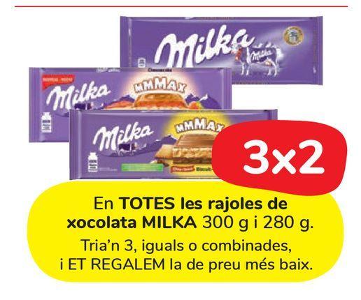 Oferta de En TODAS las tabletas de chocolates MILKA  por