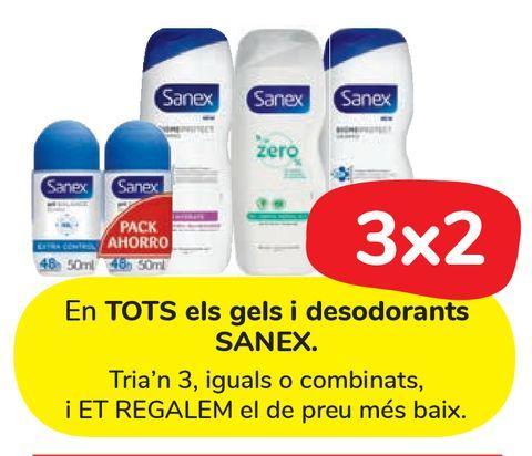 Oferta de En TODOS los geles y desodorantes SANEX. por