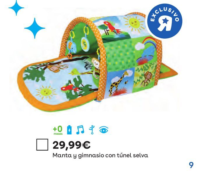 Oferta de Manta y gimnasio  con túnel selva  por 29,99€