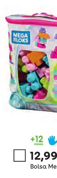Oferta de Bolsa Maxi 60 Piezas Rosa Mega Bloks por 12,99€