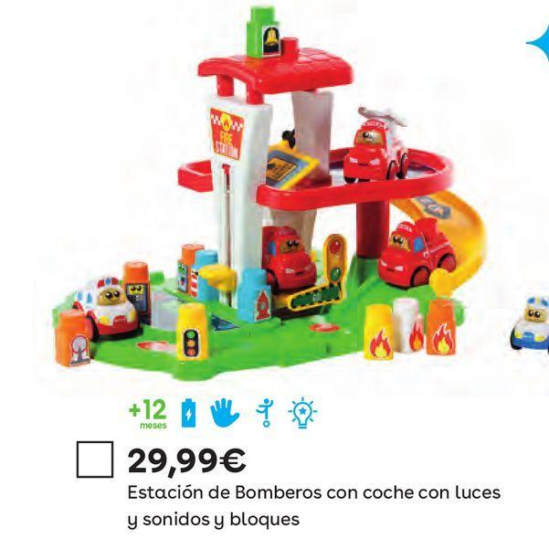 Oferta de Set Estación de Bomberos, Coche con Luces y Sonidos y Bloques por 29,99€