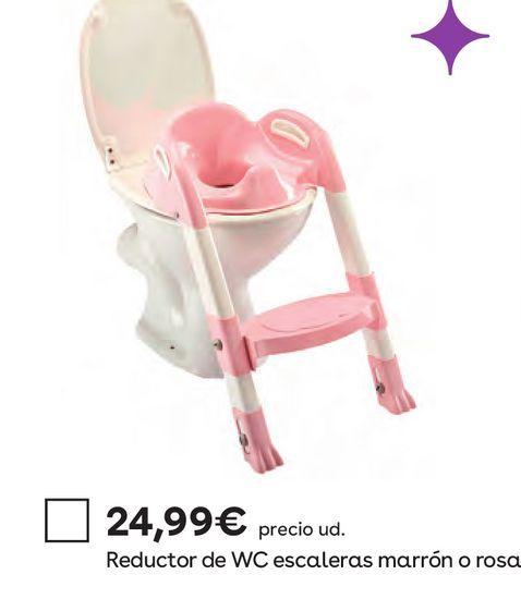 Oferta de Kiddyloo - Adaptador de WC y Escalera Rosa por 24,99€