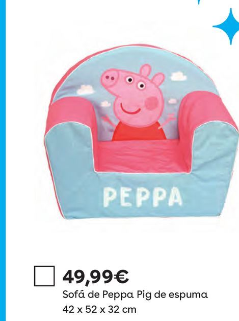 Oferta de Sillón Peppa Peppa Pig por 49,99€