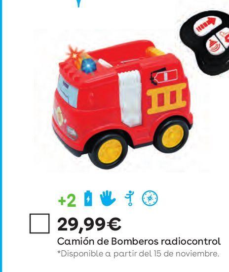 Oferta de Camión de bombero radiocontrol por 29,99€