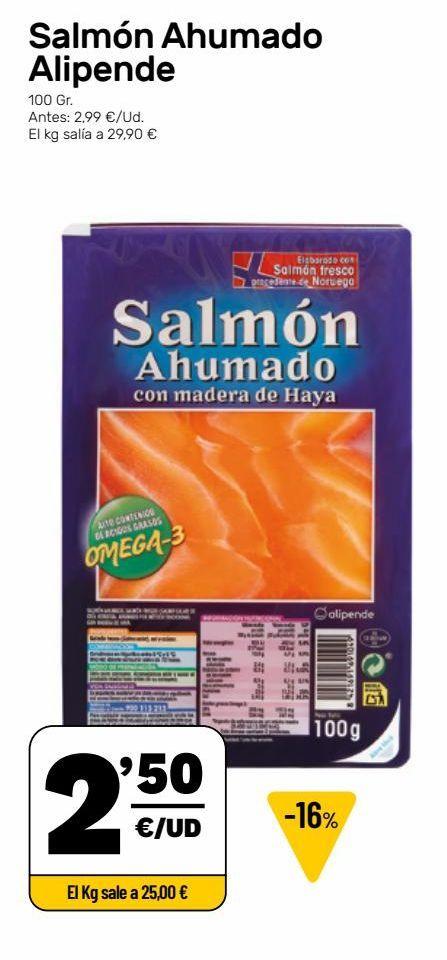 Oferta de Salmón ahumado por 2,5€