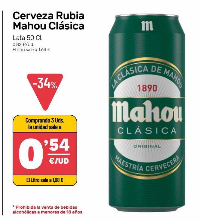 Oferta de Cerveza  Rubia por